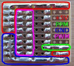 Protoboard bottom annotated